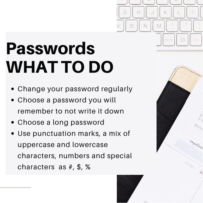 Password cyber security what to do