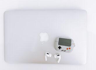 macbook, airpod pro case cover, game biy game console, video games retro